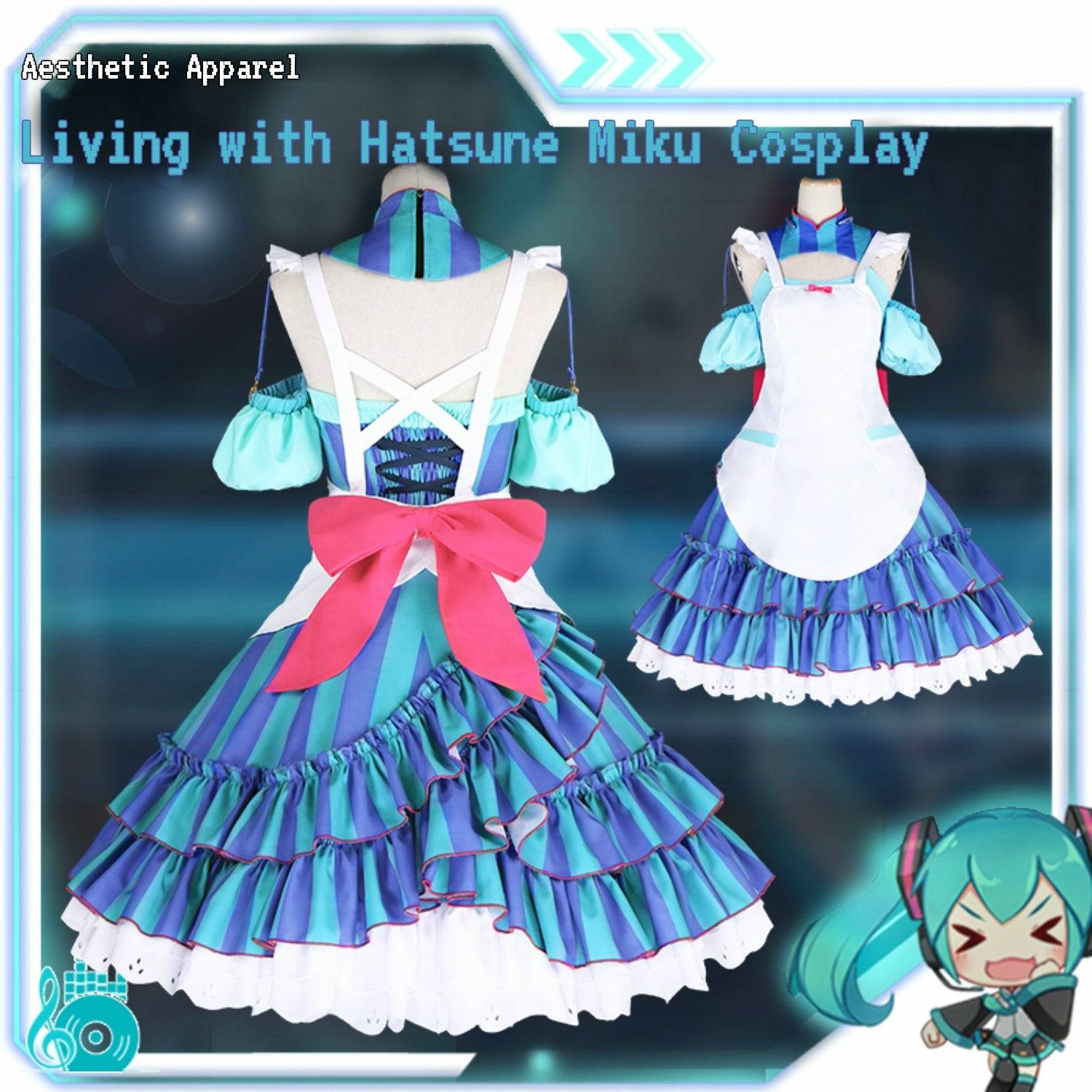 "VOCALOID Gatebox: ""Living with Hatsune Miku"" Cosplay"