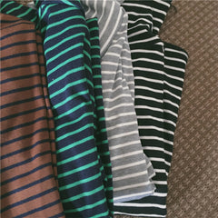 Loose Striped Poloneck