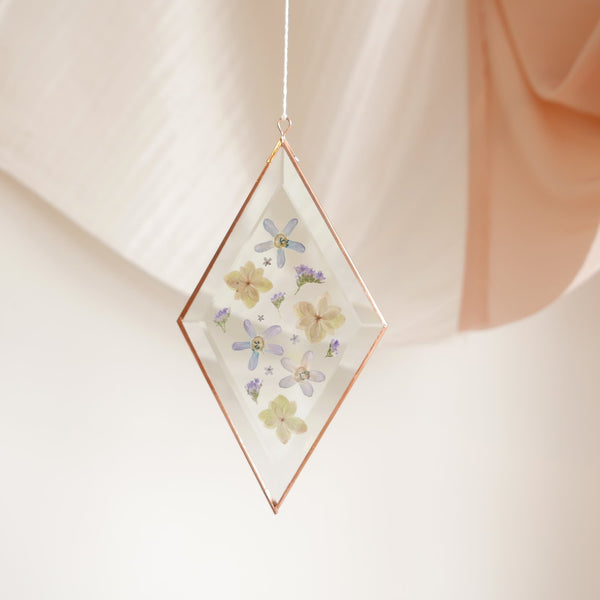Pressed Flower Suncatcher - Diamond