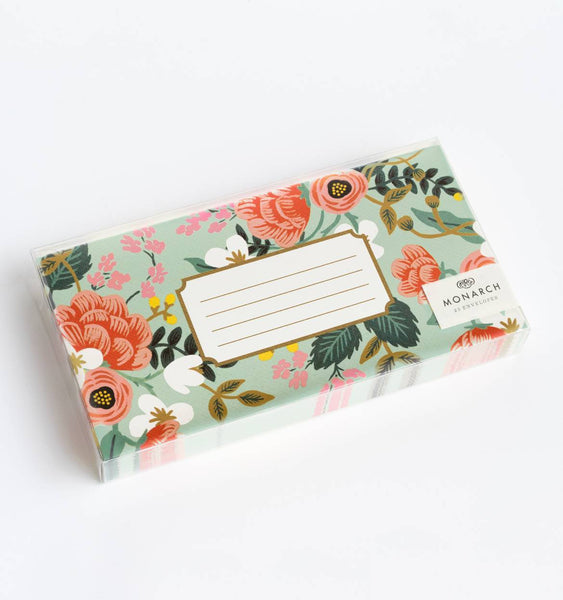 Mint Birch Monarch Envelopes - Boxed Set of 25