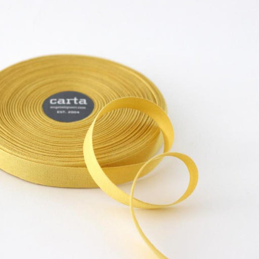 Tight weave cotton ribbon (17mm) - Lemon