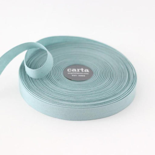 Tight weave cotton ribbon (17mm) - Pool
