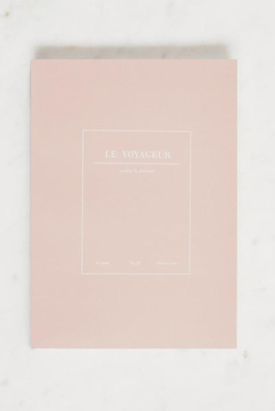 Le Voyageur Ruled Notebook - Pink