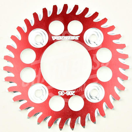 Vortex 420 Rear Sprocket CAT5 Aluminum 35 Teeth Red 206ZR-35