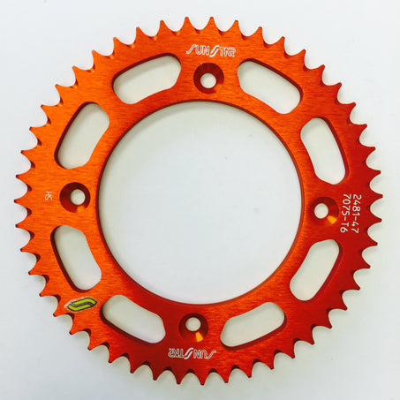 Sunstar 428 Rear Sprocket Aluminum 46 Teeth Orange 5-248146OR