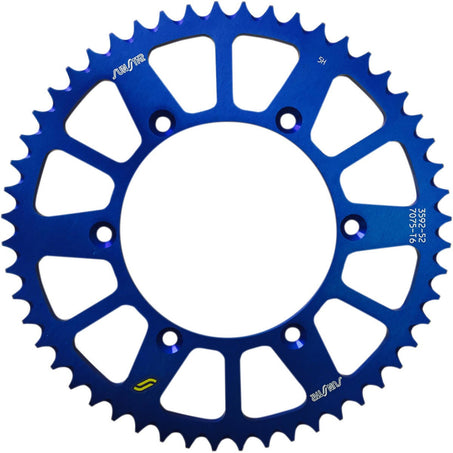 Sunstar 520 Rear Sprocket Aluminum 52 Teeth Blue 5-359252BL