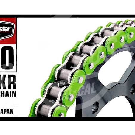 Bike Master 520 x 120 Links BMXR Series Xring Sealed Green Drive Chain