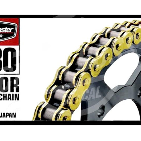 Bike Master 530 x 130 Links BMOR Series Oring Sealed Gold Drive Chain