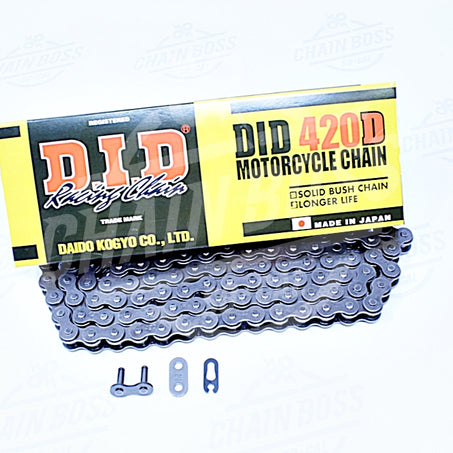 DID 420 x 122 Links Standard Series  Non Oring Natural Drive Chain - chainboss