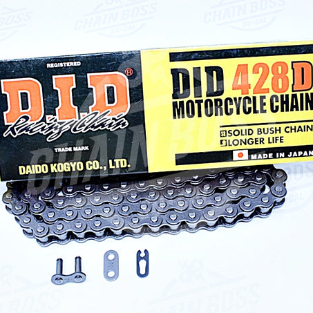 DID 428 x 130 Links Standard Series  Non Oring Natural Drive Chain - chainboss