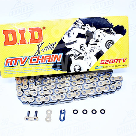 DID 520 x 86 Links ATV Series Xring Sealed Gold Drive Chain - chainboss