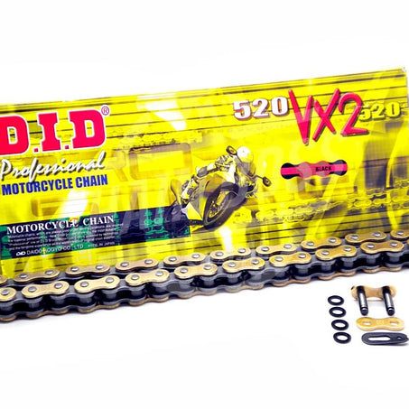 DID 520 x 114 Links VX2 Pro-Street Series Xring Sealed Gold Drive Chain