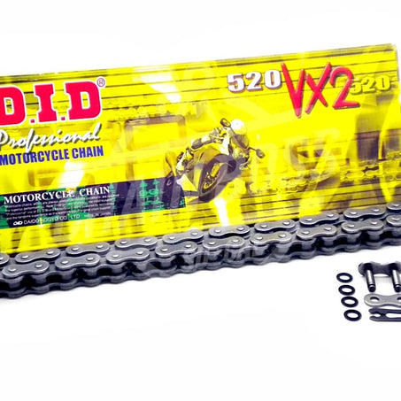 DID 520 x 96 Links VX2 Pro-Street Series Xring Sealed Natural Drive Chain