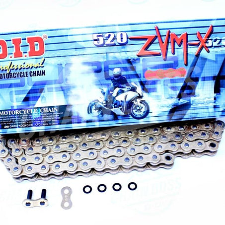 DID 520 x 102 Links ZVMX Super Street Series Xring Sealed Gold Drive Chain