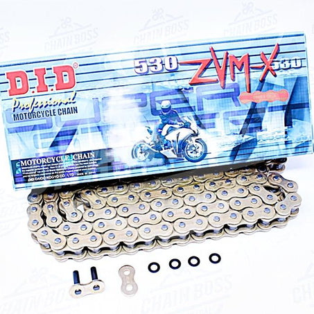 DID 530 x 200 Links ZVMX Super Street Series Xring Sealed Gold Drive Chain