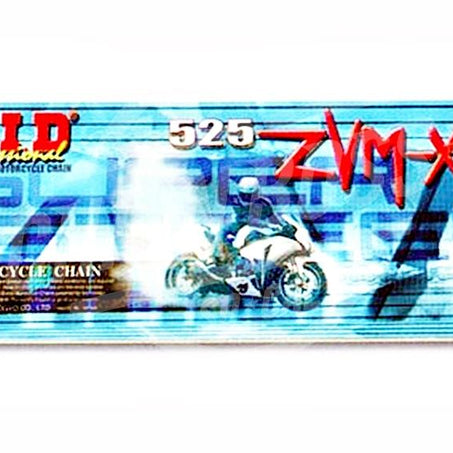 DID 525 x 110 Links ZVMX Super Street Series Xring Sealed Natural Drive Chain