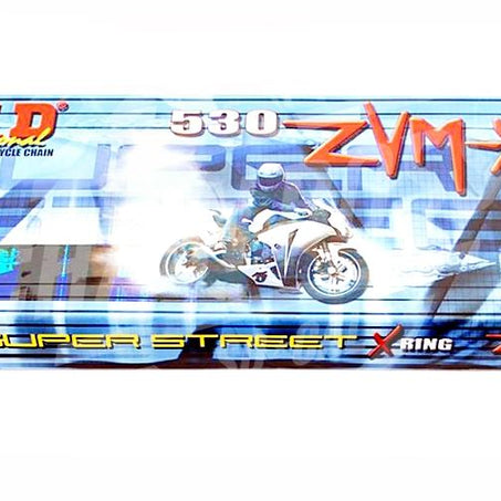 DID 530 x 200 Links ZVMX Super Street Series Xring Sealed Nickel Drive Chain