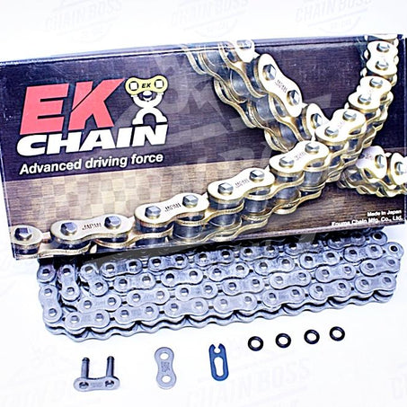 EK Chain 520 SRX2 Quadra X-Ring Chain - 120 Links - Natural, Chain Length: 120, Chain Type: 520, Color: Natural, Chain Application: All EK 520SRX2 X 120