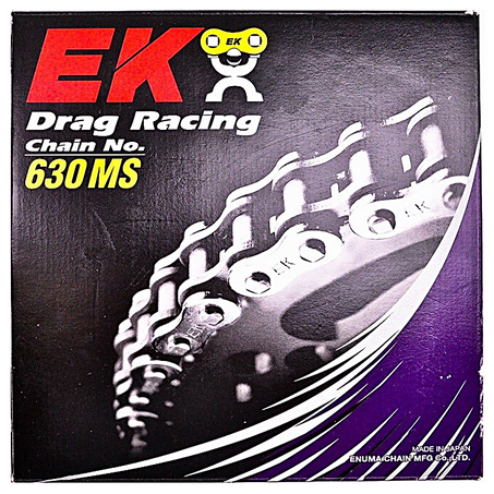 EK Chains 630x120 Links MS Drag Bike Series non-Oring Natural Chain - chainboss