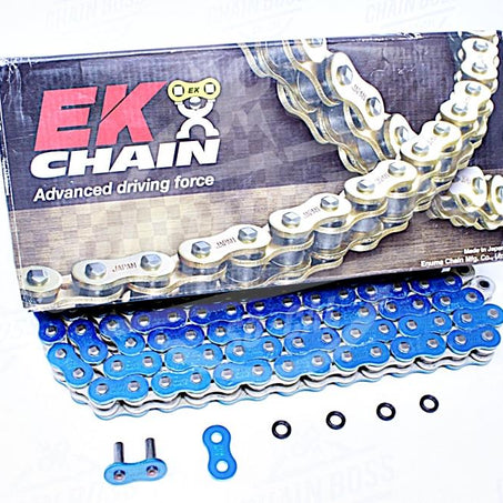 EK Chains 525 x 120 Links MVXZ2 Series Xring Sealed Blue Drive Chain