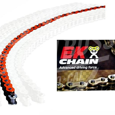 EK Chains 525 x 120 Links MVXZ2 Series Xring Sealed Orange Drive Chain