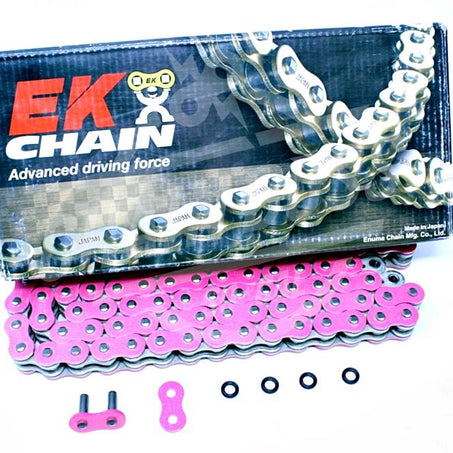 EK Chains 520 x 120 Links MVXZ2 Series Xring Sealed Pink Drive Chain