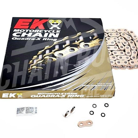EK Chains 525 x 150 Links ZVX3 Extreme Series Xring Sealed Gold Drive Chain