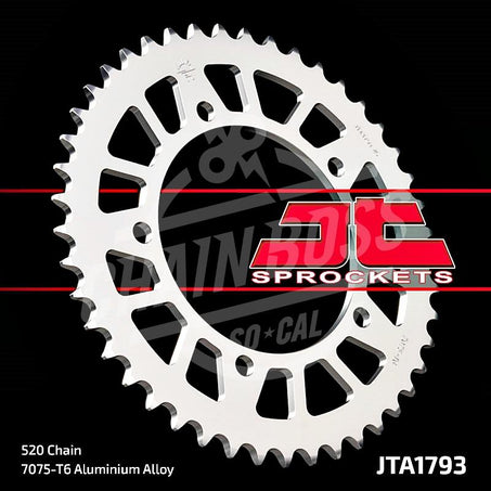 JT Sprockets 520 Rear Sprocket Aluminum 45 Teeth Silver JTA1793.45