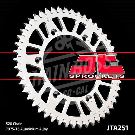 JT Sprockets 520 Rear Sprocket Aluminum 48 Teeth Silver JTA251.48