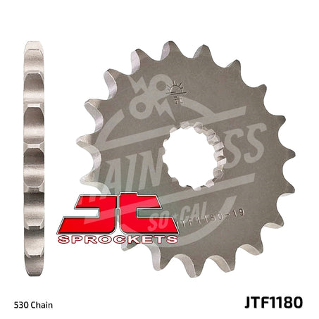 JT Sprockets 530 Front Sprocket Steel 19 Teeth Natural JTF1180.19 - chainboss