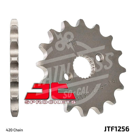 JT Sprockets 420 Front Sprocket Steel 15 Teeth Natural JTF1256.15