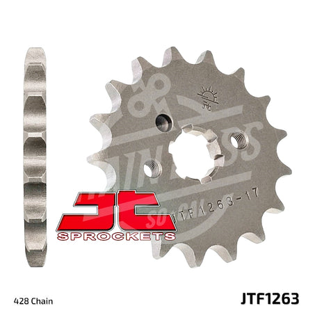 JT Sprockets 428 Front Sprocket Steel 13 Teeth Natural JTF1263.13 - chainboss