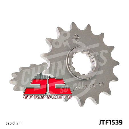 JT Sprockets 520 Front Sprocket Steel 15 Teeth Natural JTF1539.15 - chainboss