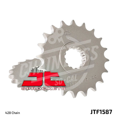 JT Sprockets 428 Front Sprocket Steel 19 Teeth Natural JTF1587.19 - chainboss