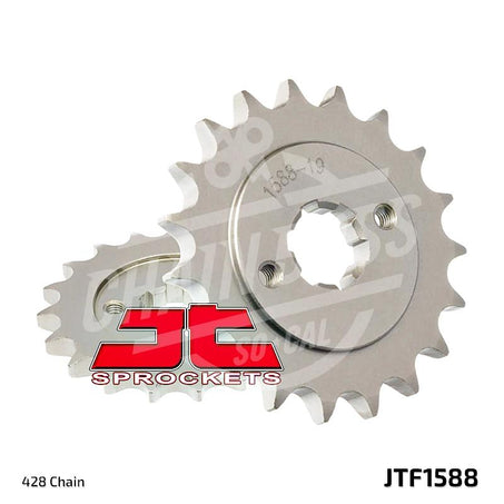 JT Sprockets 428 Front Sprocket Steel 19 Teeth Natural JTF1588.19