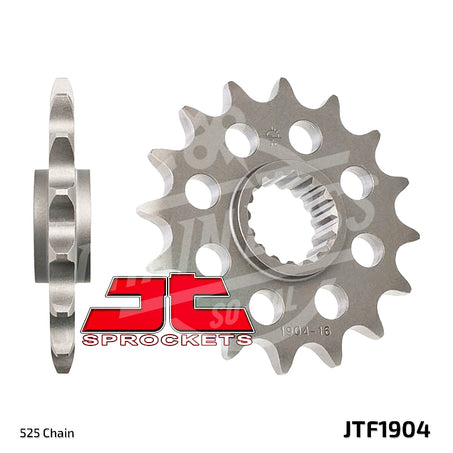 JT Sprockets 525 Front Sprocket Steel 17 Teeth Natural JTF1904.17 - chainboss