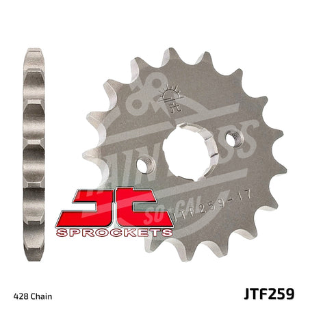 JT Sprockets 428 Front Sprocket Steel 14 Teeth Natural JTF259.14 - chainboss