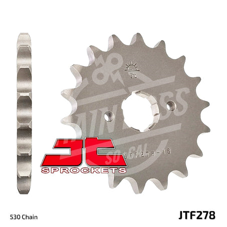 JT Sprockets 530 Front Sprocket Steel 17 Teeth Natural JTF278.17 - chainboss