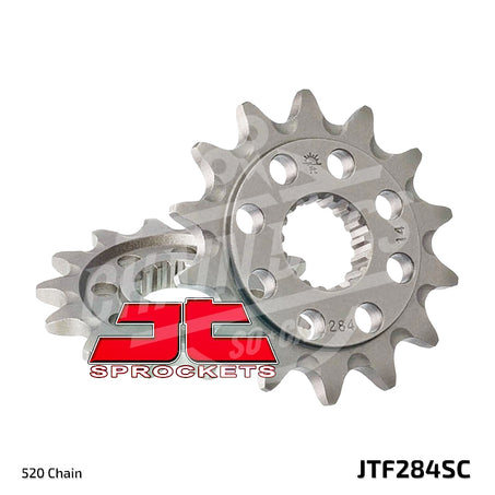 JT Sprockets 520 Front Sprocket Self Cleaning Steel 13 Teeth Natural JTF284.13SC - chainboss