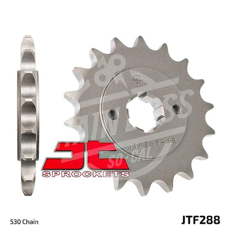 JT Sprockets 530 Front Sprocket Steel 17 Teeth Natural JTF288.17