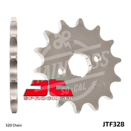 JT Sprockets 520 Front Sprocket Steel 13 Teeth Natural JTF328.13 - chainboss