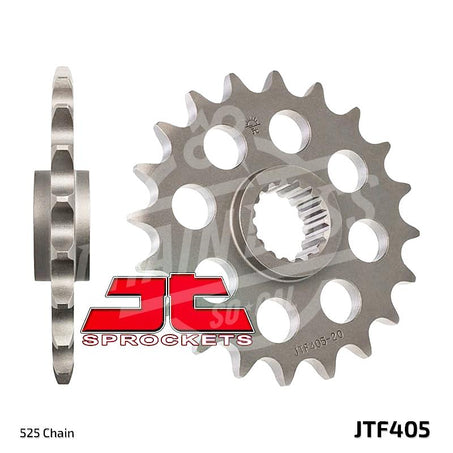 JT Sprockets 525 Front Sprocket Steel 19 Teeth Natural JTF405.19
