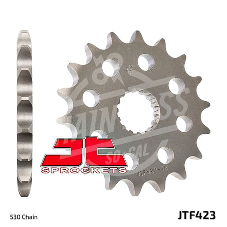 JT Sprockets 530 Front Sprocket Steel 17 Teeth Natural JTF423.17 - chainboss