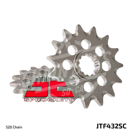 JT Sprockets 520 Front Sprocket Self Cleaning Steel 14 Teeth Natural JTF432.14SC - chainboss