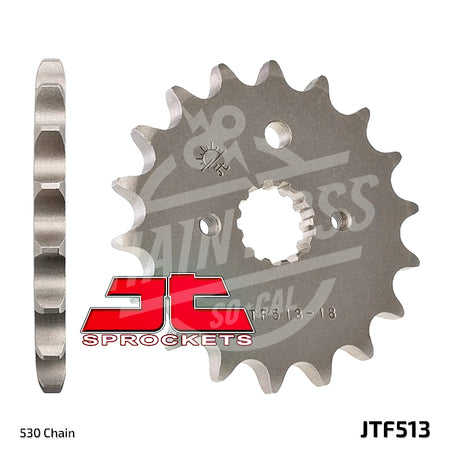 JT Sprockets 530 Front Sprocket Steel 16 Teeth Natural JTF513.16 - chainboss
