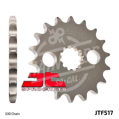 JT Sprockets 530 Front Sprocket Steel 15 Teeth Natural JTF517.15