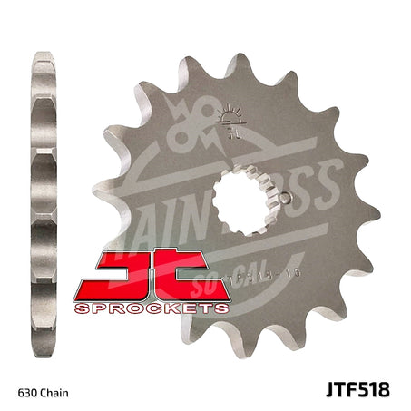 JT Sprockets 630 Front Sprocket Steel 13 Teeth Natural JTF518.13 - chainboss