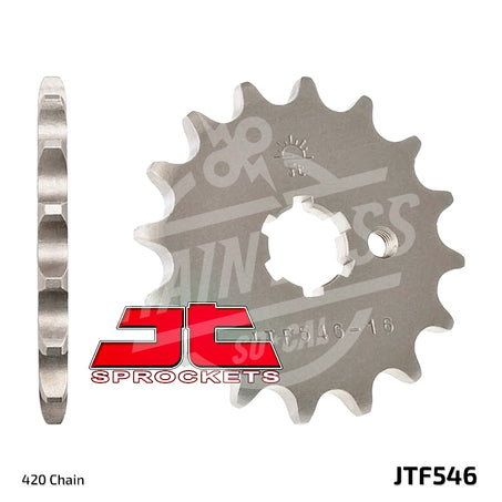 JT Sprockets 420 Front Sprocket Steel 13 Teeth Natural JTF546.13 - chainboss