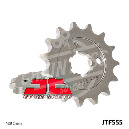 JT Sprockets 428 Front Sprocket Steel 13 Teeth Natural JTF555.13 - chainboss