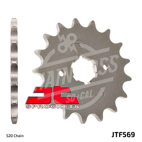 JT Sprockets 520 Front Sprocket Steel 14 Teeth Natural JTF569.14 - chainboss